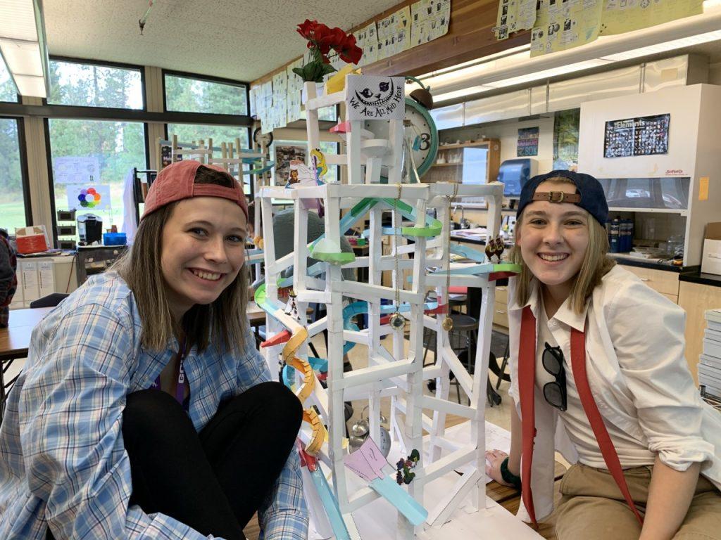Hs Engineer Students Build Paper Roller Coasters Northwest Christian Schools In Spokane